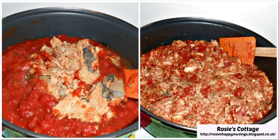 Chopped Tomatoes and Tinned Salmon Recipe
