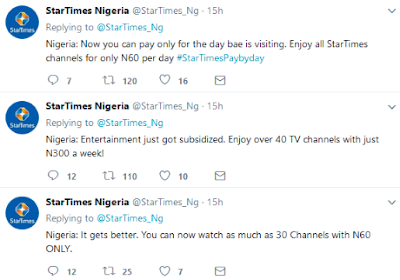Startimes Introduce Payperday, As Dstv Confirms Option Of