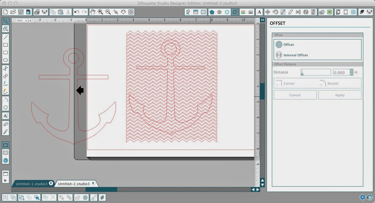 How to Fill a Silhouette Design or Text With a Cuttable Background (Free Studio Cut File), offset