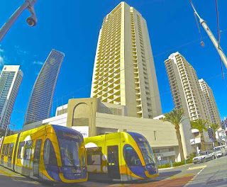 Two Light Rail Trams Surfers Paradise Photo Scorching Hot News