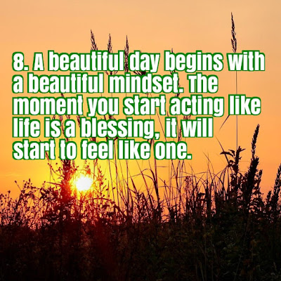 A Beautiful Day Begins With A Beautiful Mindset Quote 10 Good Morning...