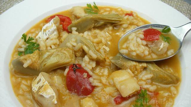 receta-de-arroz-caldoso-con-bacalao