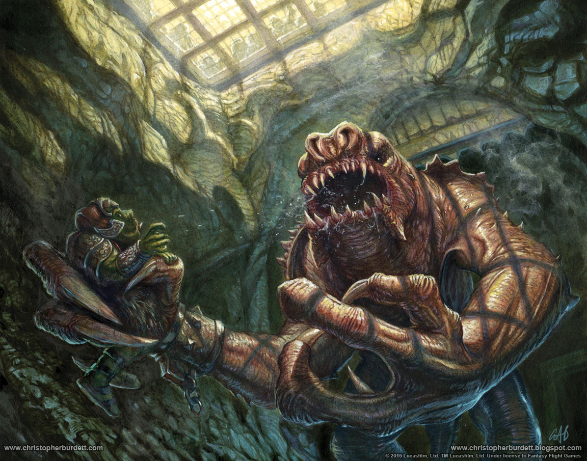 The Doodles Designs And Art Of Christopher Burdett Jabba S Rancor