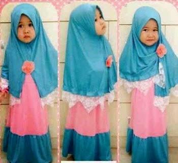 Baju muslim spesial untuk anak perempuan