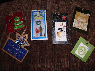 Recycled Christmas Gift Tags
