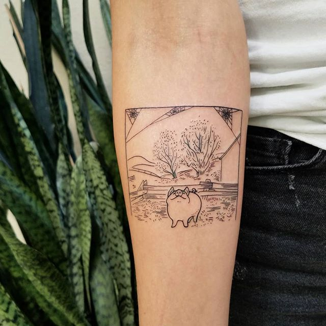 pig cuts tattoo