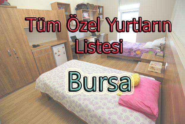 Bursa'daki Özel Yükseköğretim Yurtları