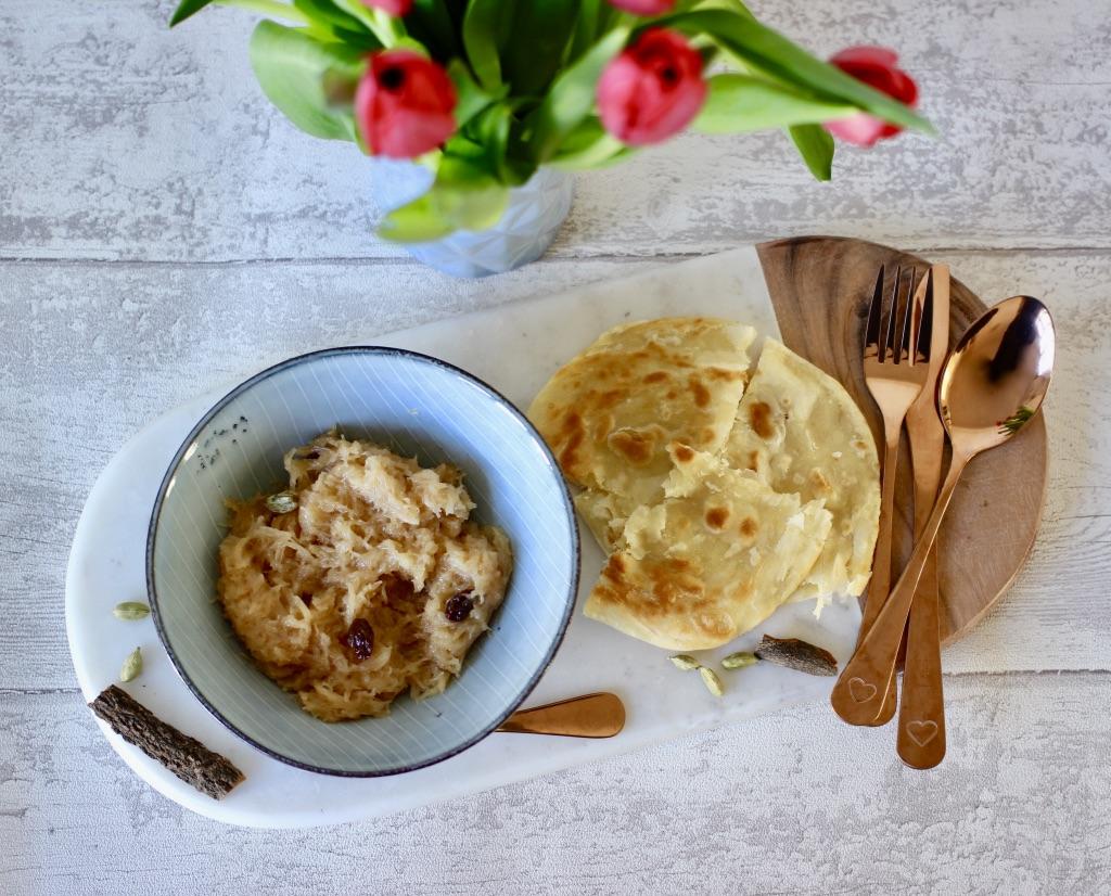 Bengali vermicelli and paratha recipe