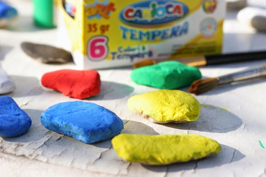 Juego de números con piedras de colores3