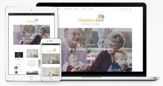 mommas love blogger template 2018
