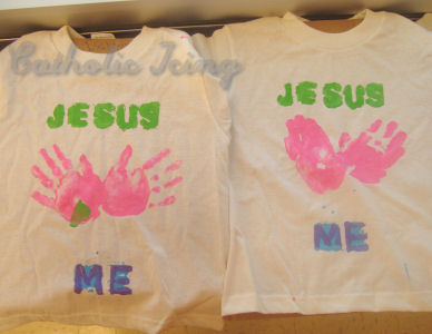 How To Make Jesus Loves Me Shirts With Kids