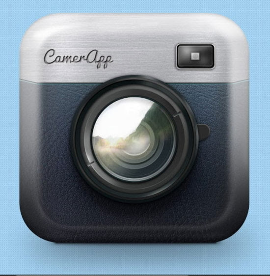 Draw an iOS App Camera Icon