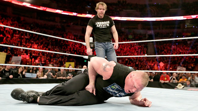 Live Dean Ambrose VS Brock Lesnar Live Match Streaming