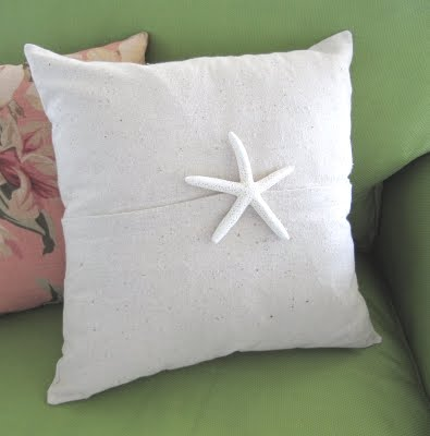 pillow with starfish