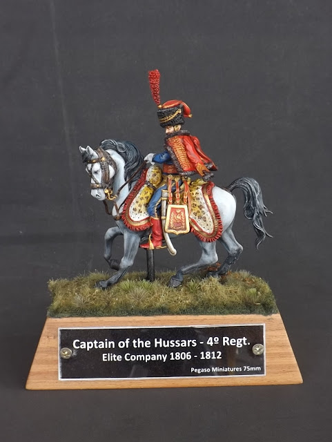 Captain of the Hussars, Elite Company 1806 - 1812 - Pegaso Miniatures 75mm New_1_001