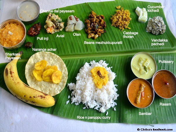 Onam festival sadya menu kerala onam lunch dishes for Authentic kerala cuisine