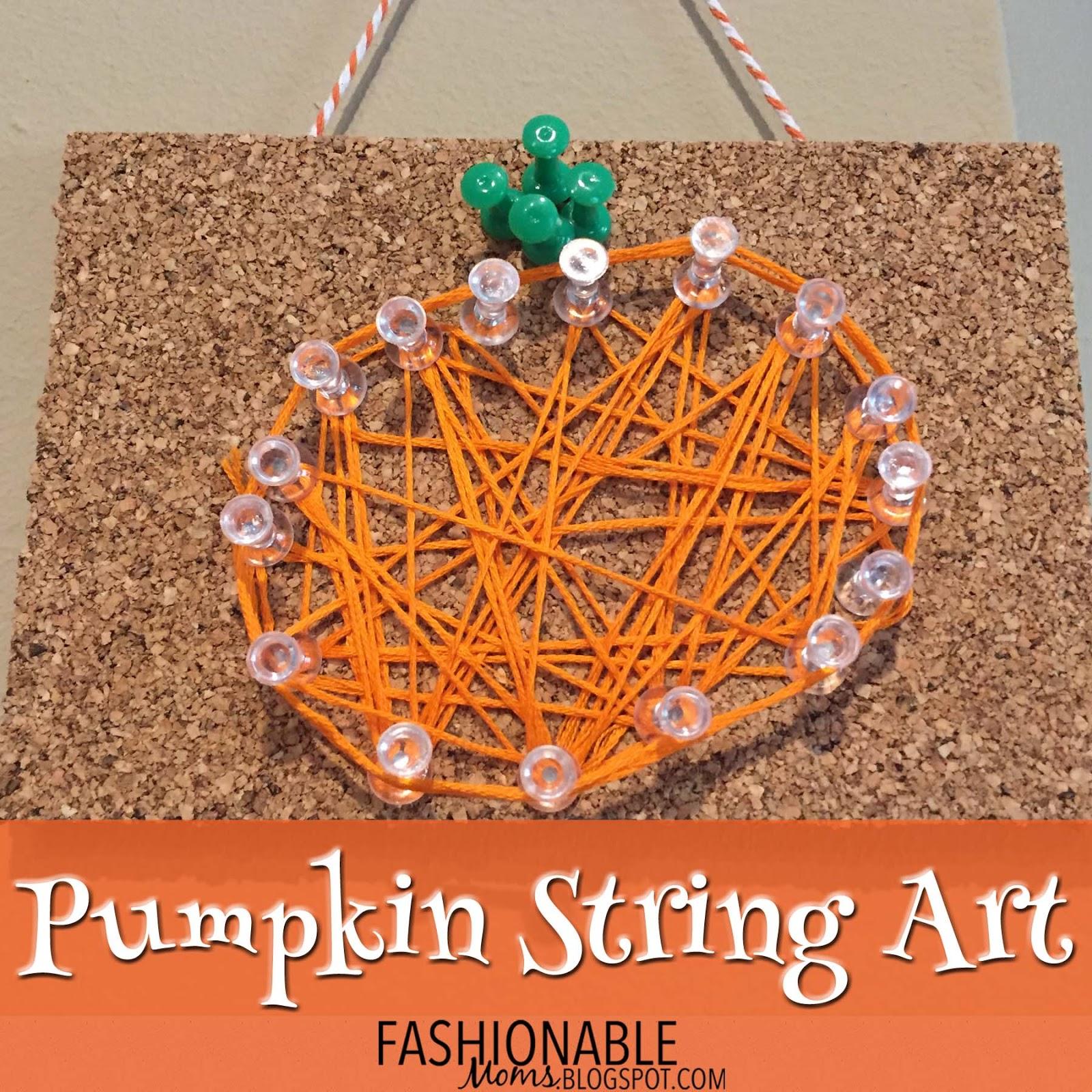 My Fashionable Designs: Pumpkin String Art With Push Pins