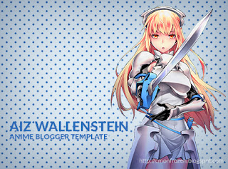 aiz wallenstein anime blogger template