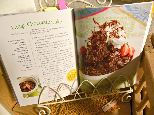 Fudgy Chocolate Cake, from your slow cooker.