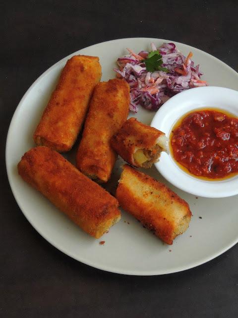 Srilankan Minced Mutton Rolls