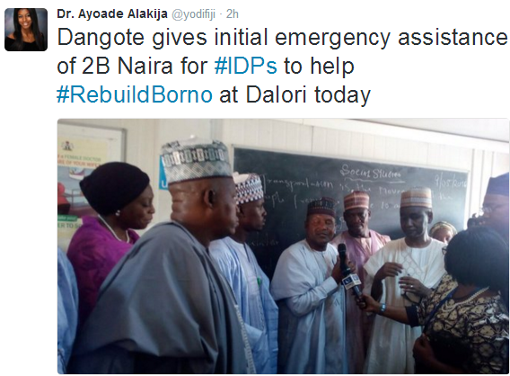 Trouble Over Aliko Dangote's N2Bn Donation To IDPs In Borno State
