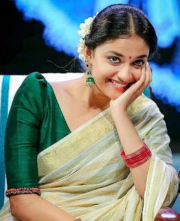 Keerthy Suresh in Saree with Cute and Awesome Lovely Smile 1