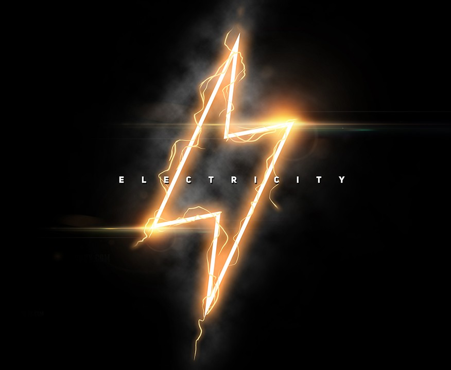 Free Download Photoshop Electricity Effect Project - PSD File