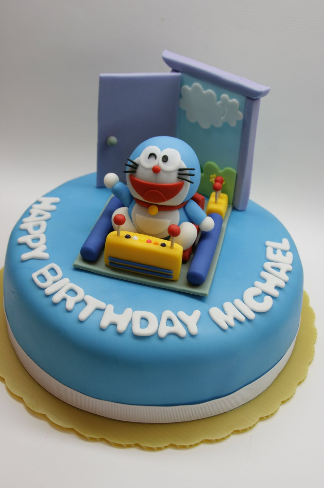 Beautiful Kitchen Doraemon Inspired Cake Topper