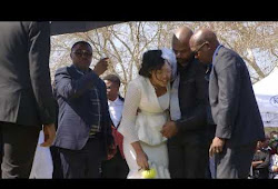 WATCH: Simphiwe Ngema breaks down with grief final goodbye to her husband.