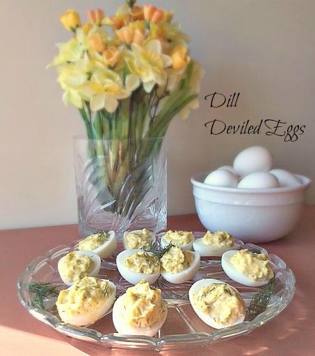 ... yogurt along with fresh dill make a beautiful and tasty deviled egg