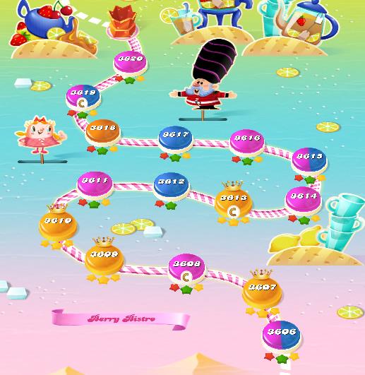 Candy Crush Saga level 3606-3620