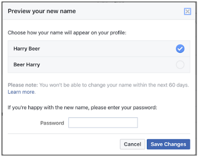 Can I Change My Profile Name On Facebook?
