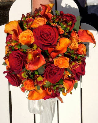 Fall Bridal Bouquet October White