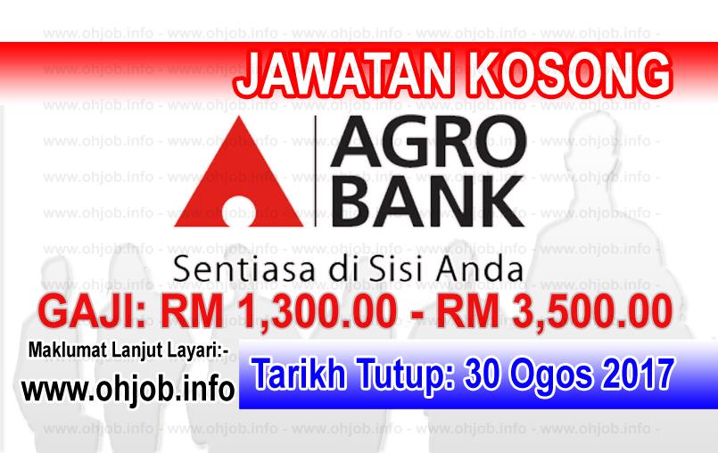 Jawatan Kerja Kosong Bank Pertanian Malaysia Berhad - Agrobank logo www.ohjob.info ogos 2017