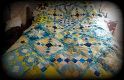 Stars on Point quilt