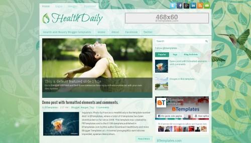 من افضل قوالب بلوجر health daily على الاطلاق