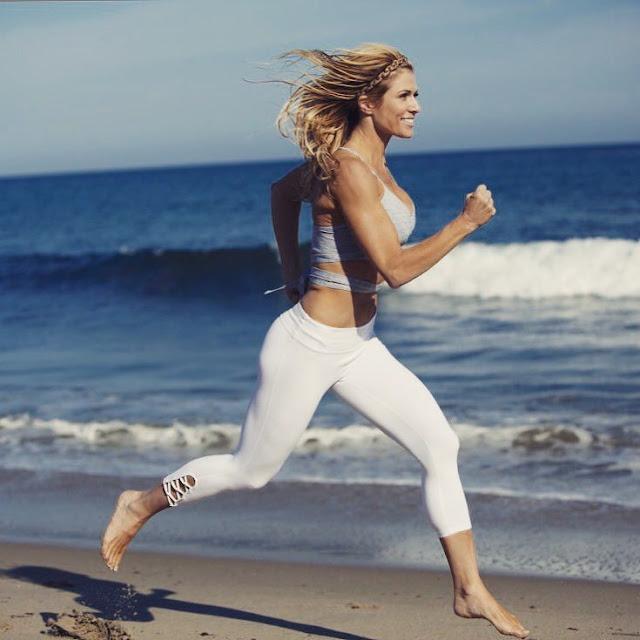 Torrie Wilson Running on Beach