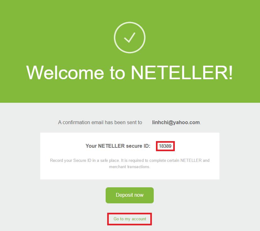 Tạo Ví điện tử Neteller