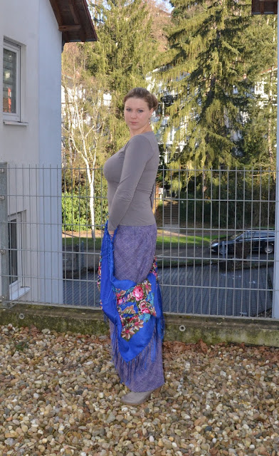 Теплая зимняя юбка