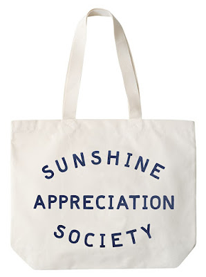 I love this sunshine appreciation society tote bag from alphabet bags, we are definitely members of that club