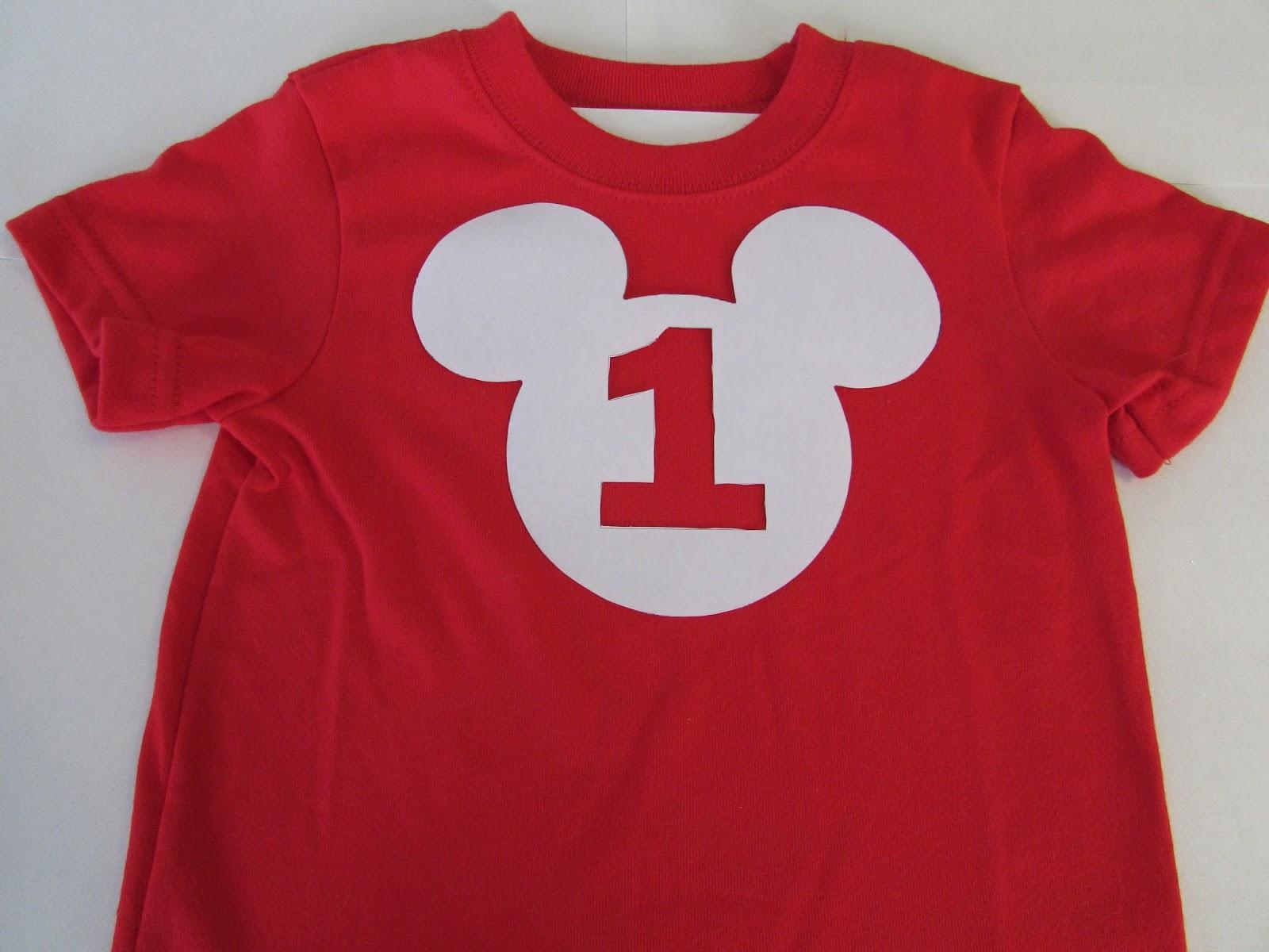 Happy 1st Birthday Mickey Mouse Shirt