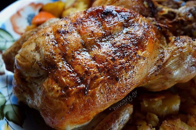 Χριστουγεννιάτικο Κοτόπουλο με Γέμιση Κιμά