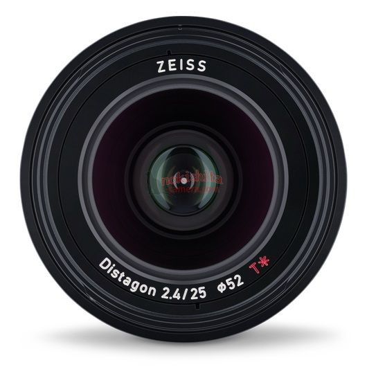 Zeiss Loxia 25mm f/2.4, вид спереди