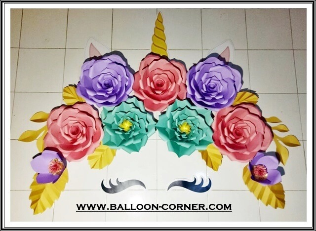 Paper Flower / Bunga Kertas Unicorn Little Pony