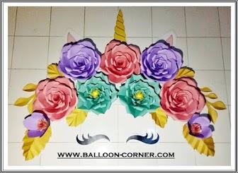 Paper Flower / Bunga Kertas Unicorn Little Pony
