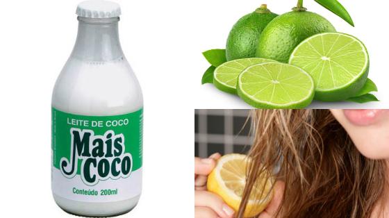 hidratacao caseira com leite de coco e limao