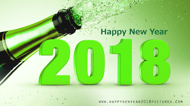 New Year 2018 beer bottle pictures