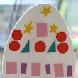 The Imagination Tree: Decorating Foam Eggs on the Window