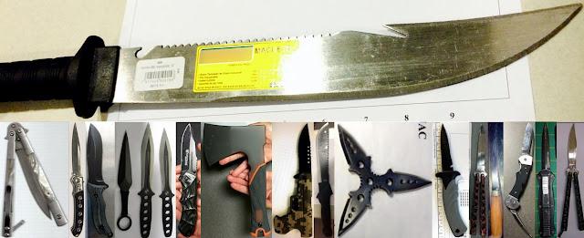 Knives, Machete, Hatchet, Throwing Star