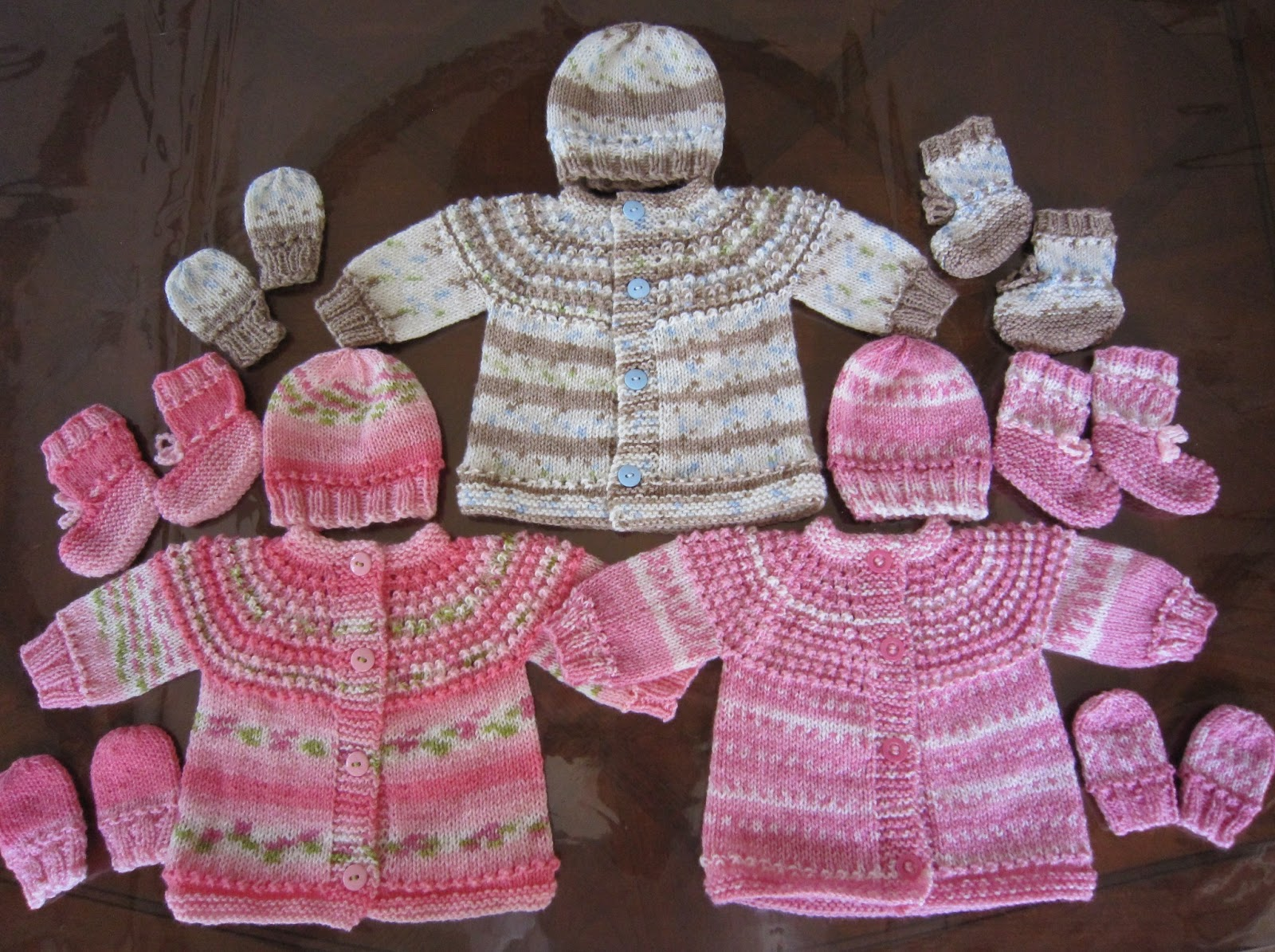Sea Trail Grandmas Preemie And Newborn Seamless Sweater Hat